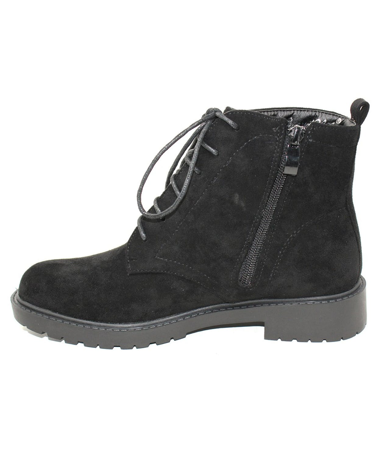 Shoe Lounge Faux Suede Desert Boot In Black