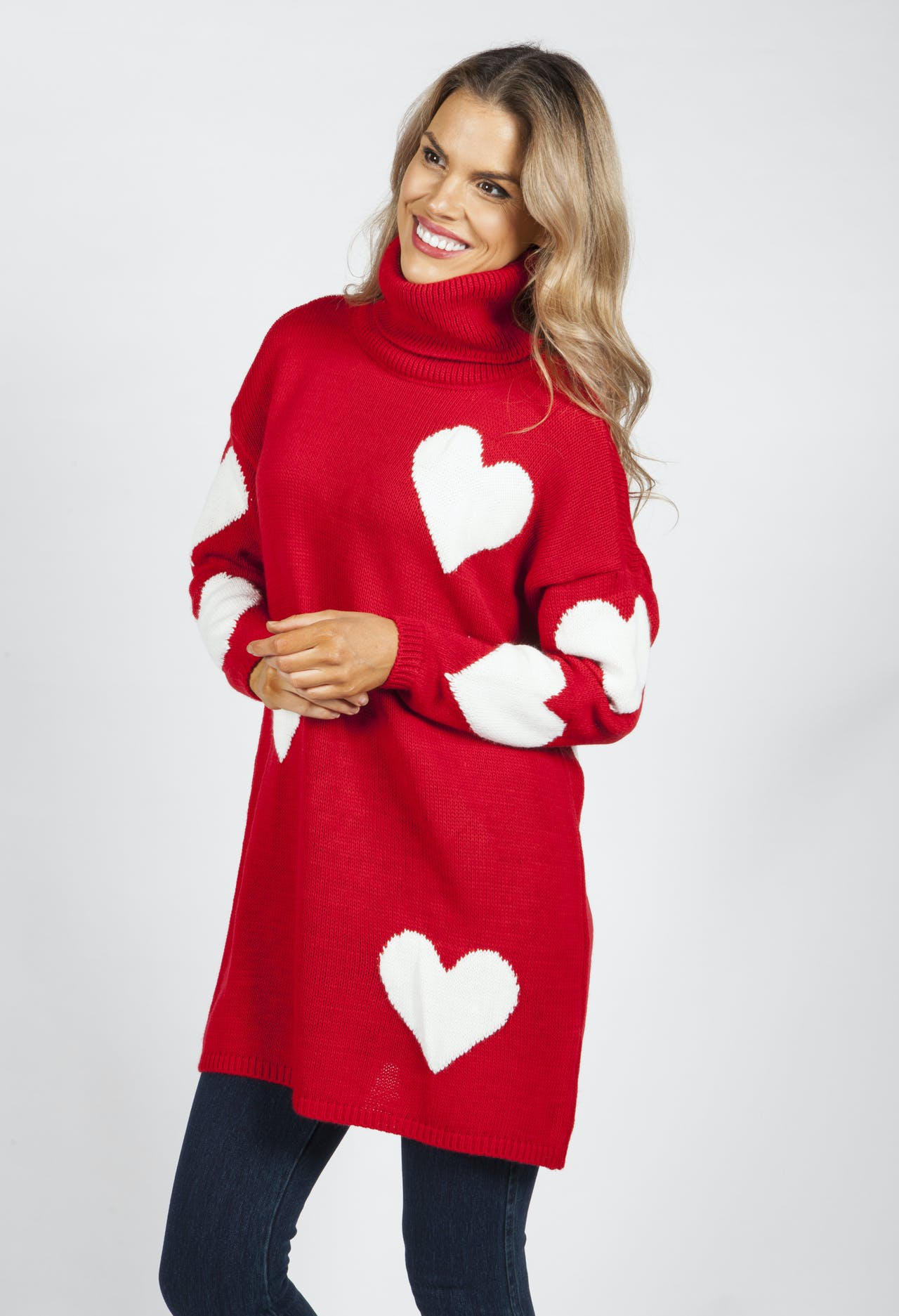 Red Sweetheart Knit