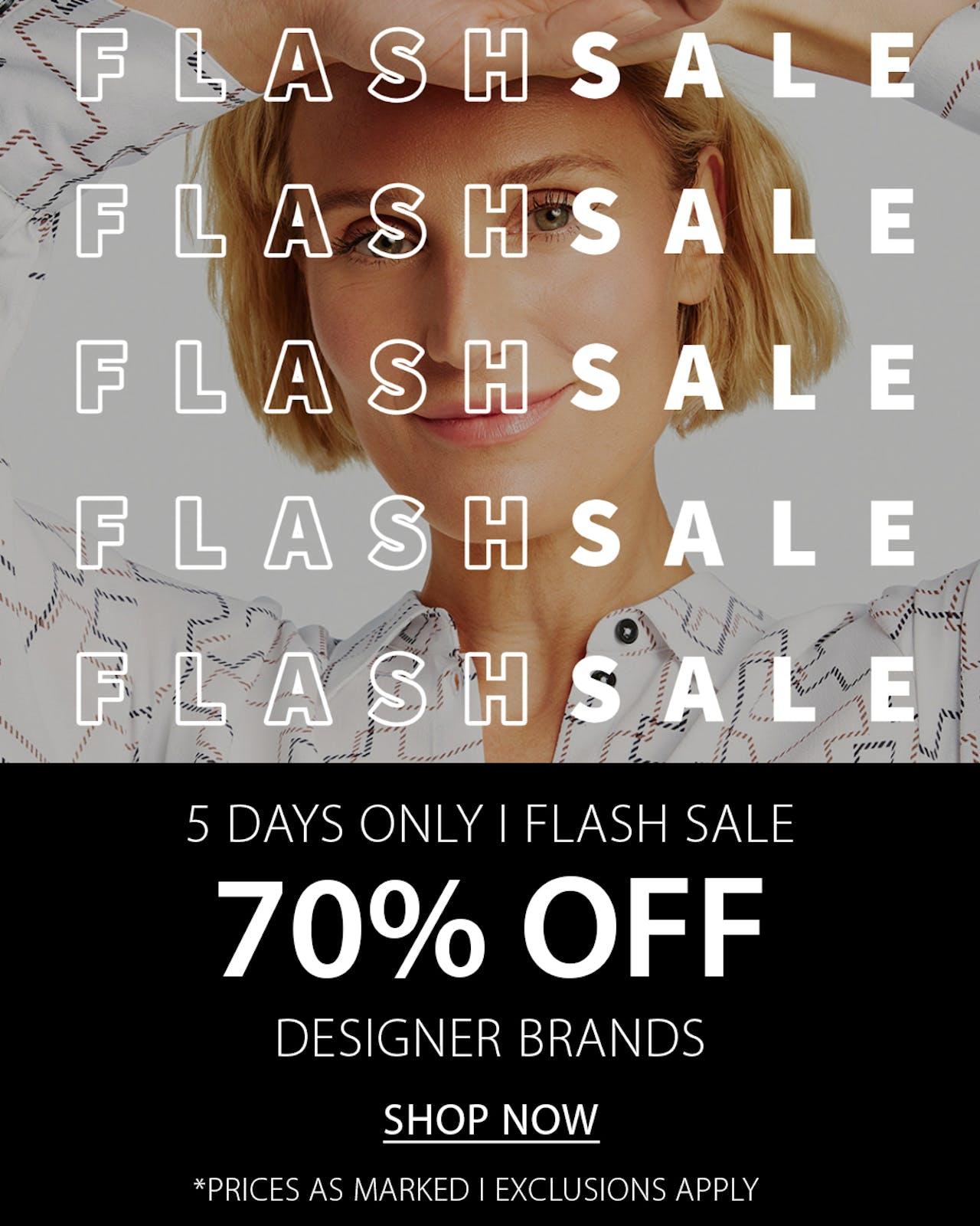 70% Off Flash Sale