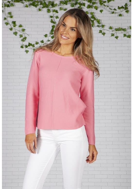 Twist Pink Fine Ribbed Knit