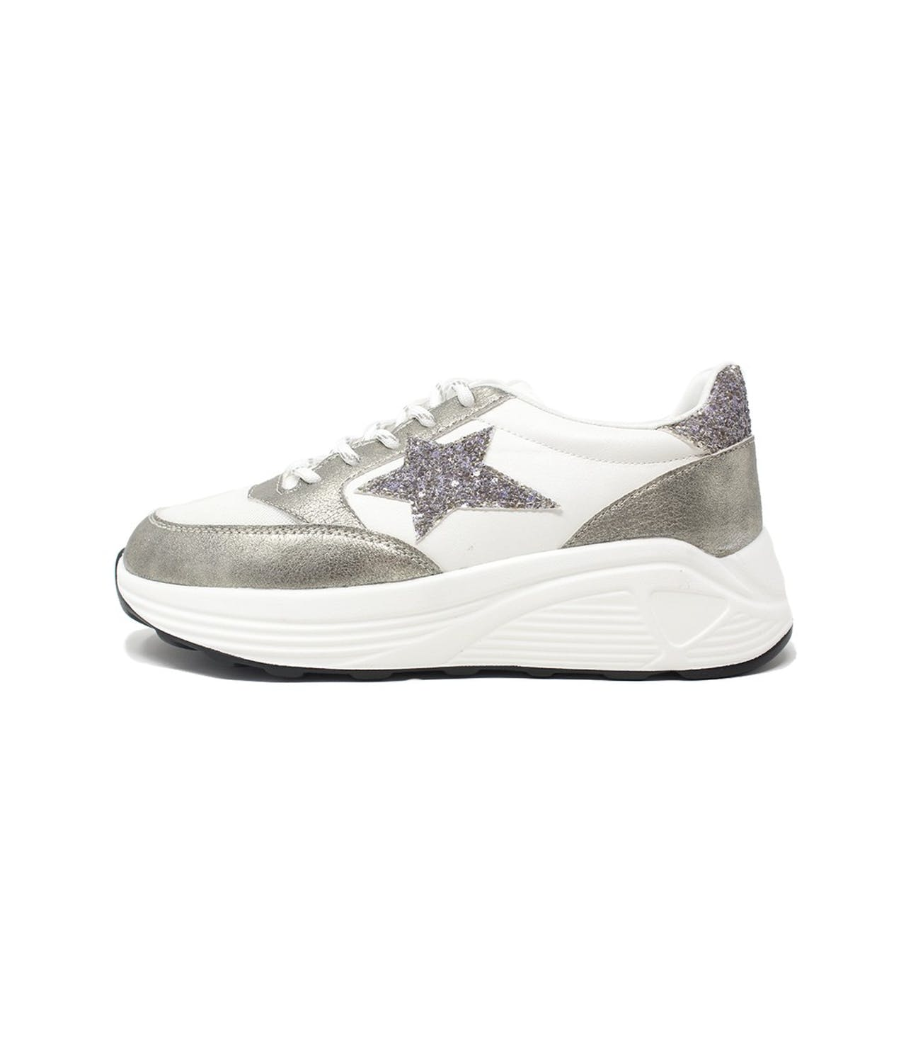 Shoe Lounge White glitter star trainer