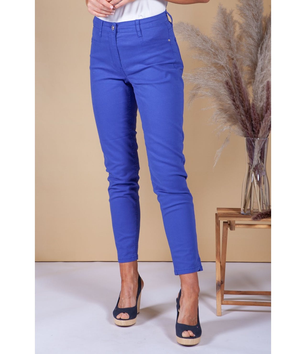 Betty Barclay Royal Blue Cotton Jean