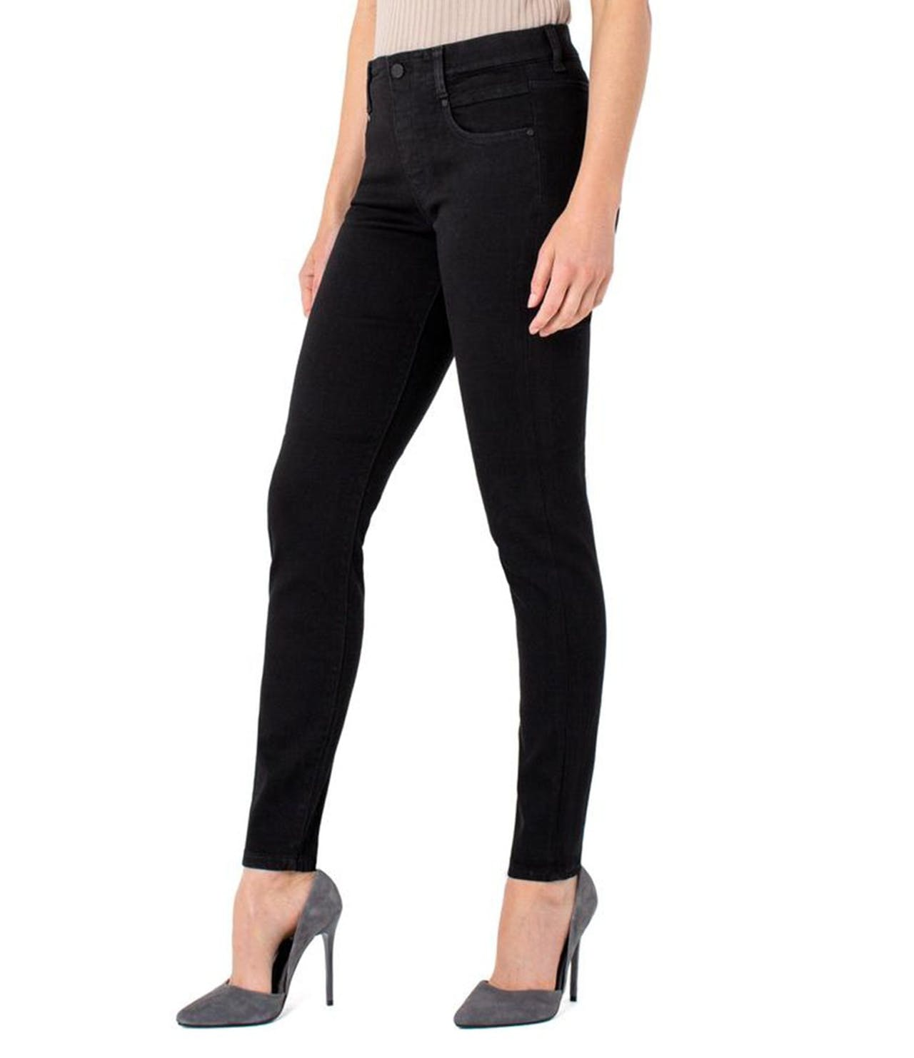 Liverpool Gia Glider Skinny Pull On in Black