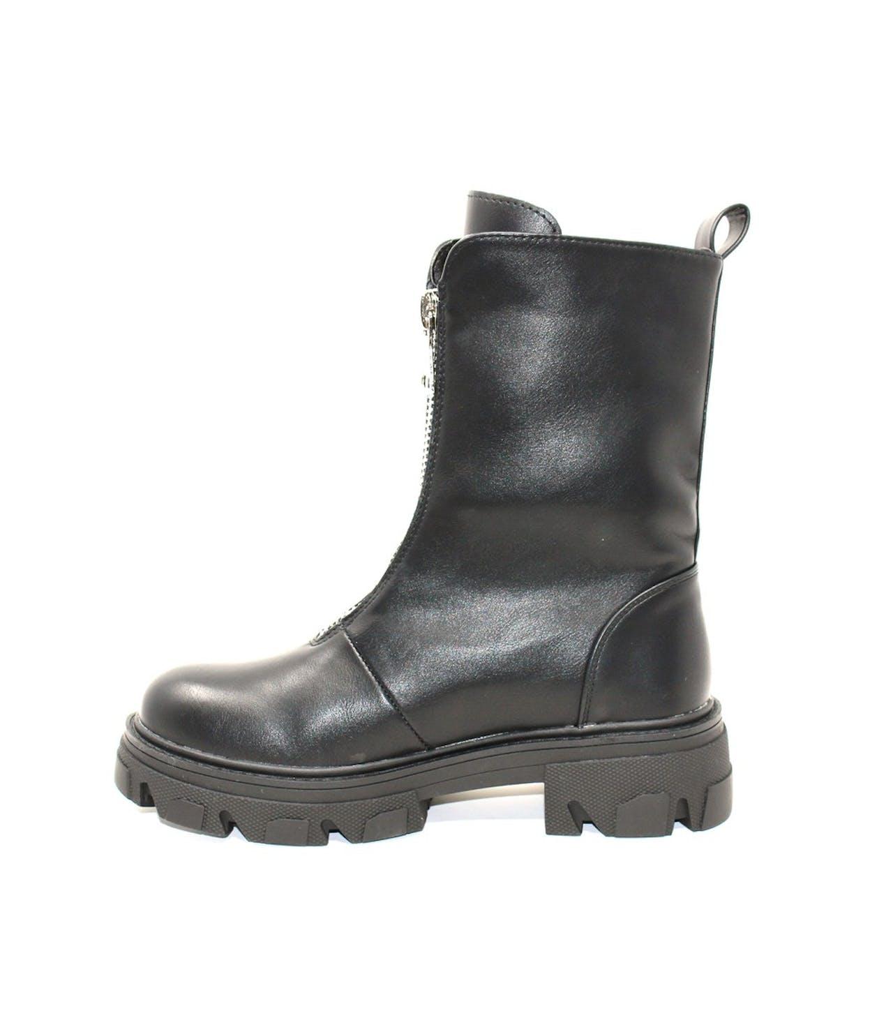 Shoe Lounge Black Rugged Angle Boot
