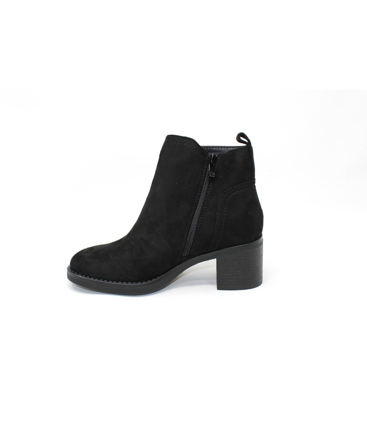 Shoe Lounge Black Block-Heel Ankle Boot