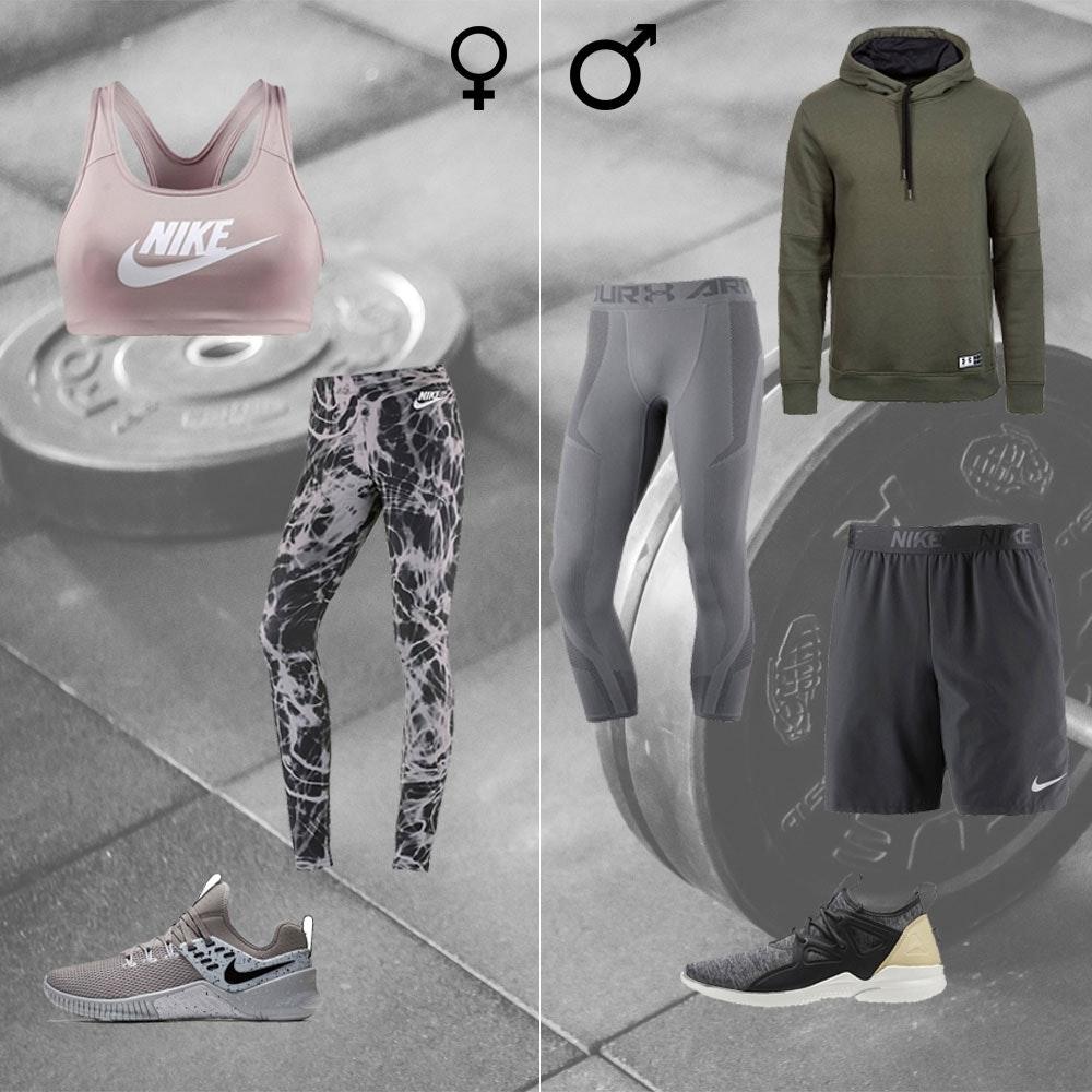 Outfit fürs Fitnessstudio für Männer und Frauen