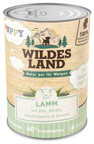 Wildes Land Nassfutter Puppy Lamm mit Reis
