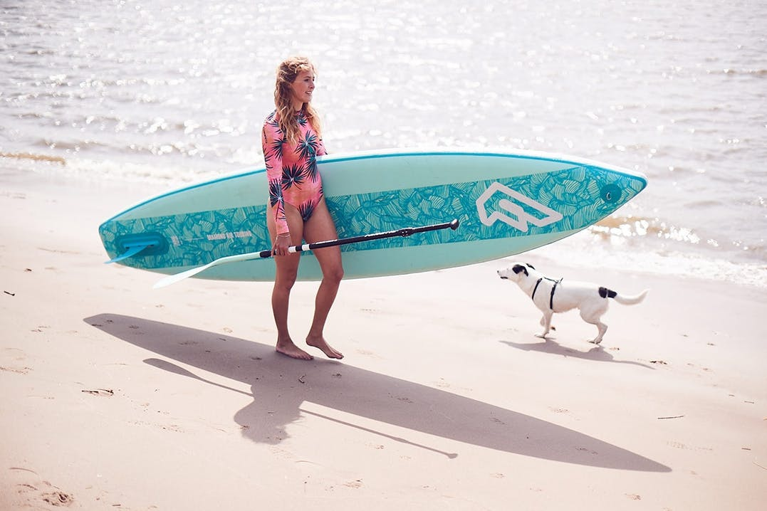 Paulina Herpel mit Fanatic Sup Board Diamond
