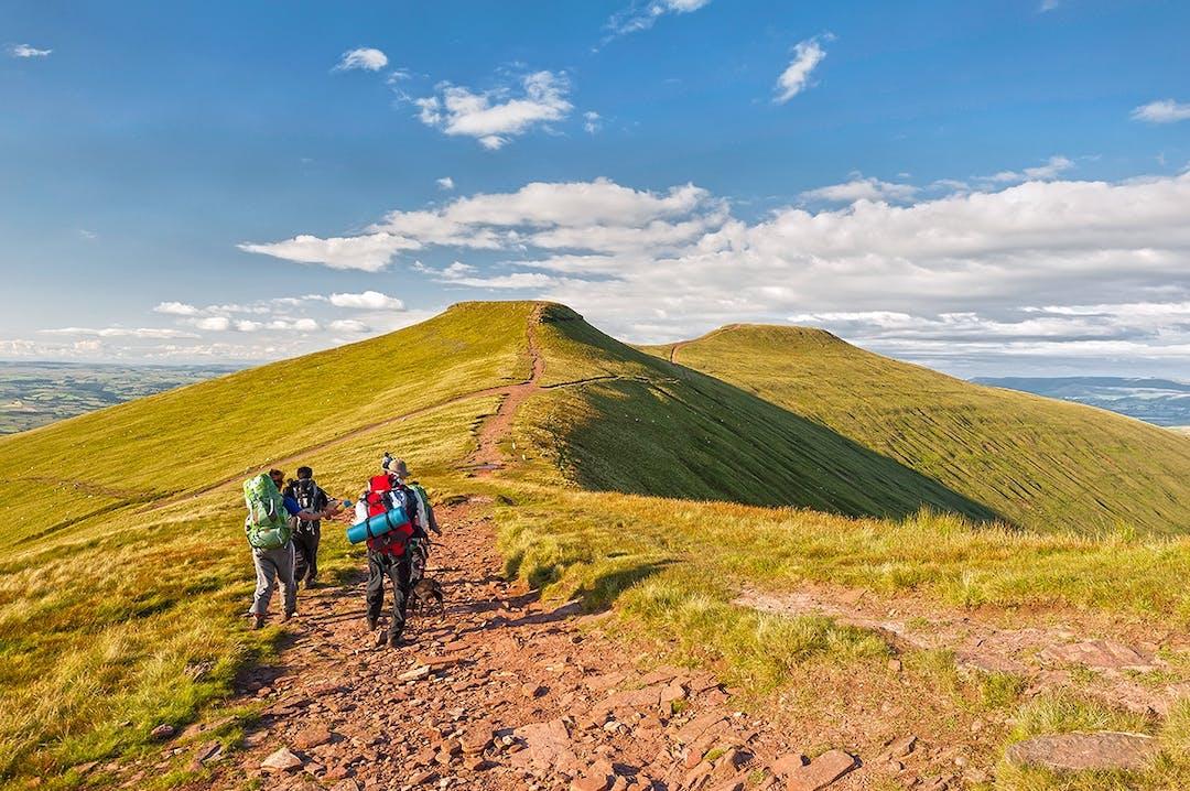 Wanderer im Brecon Beacons Nationalpark