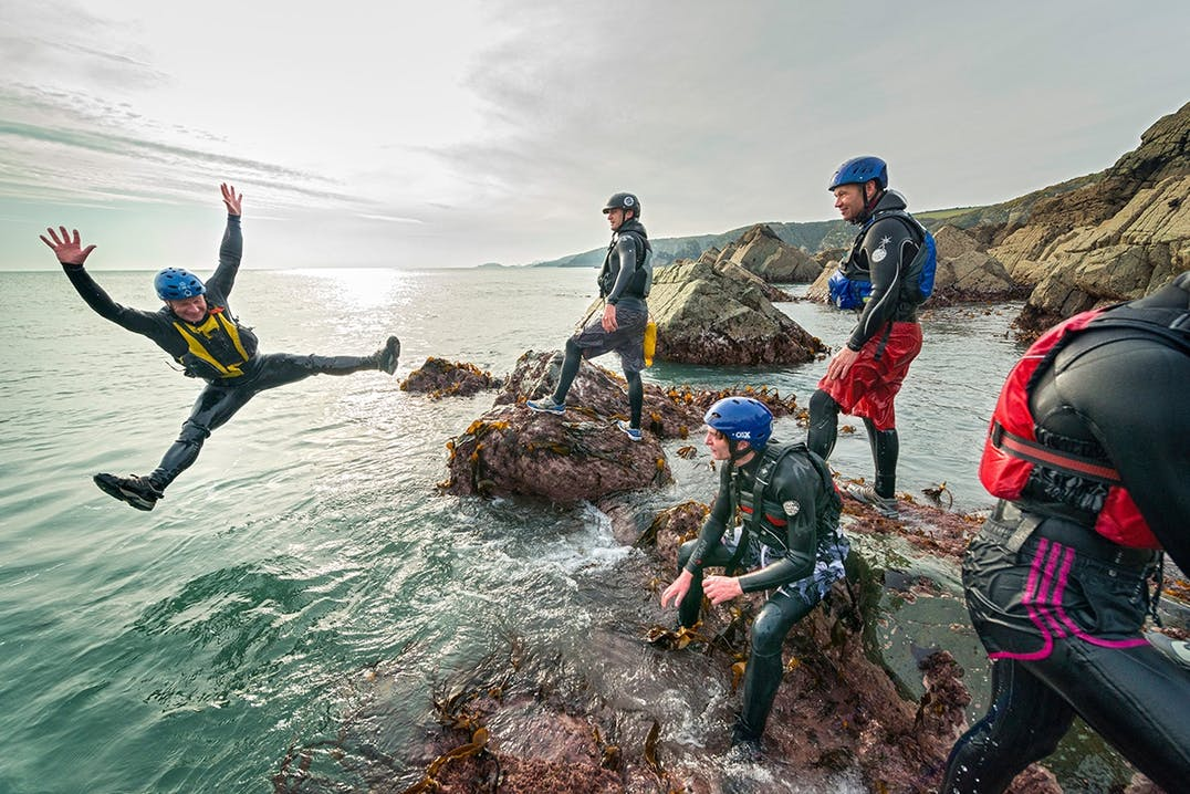 Coasteering in Pembrokeshire Wales