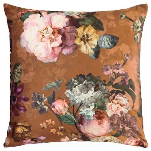 ESSENZA Fleur Zierkissen Leather Brown