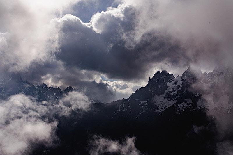 Wilde Stimmung über Chamonix