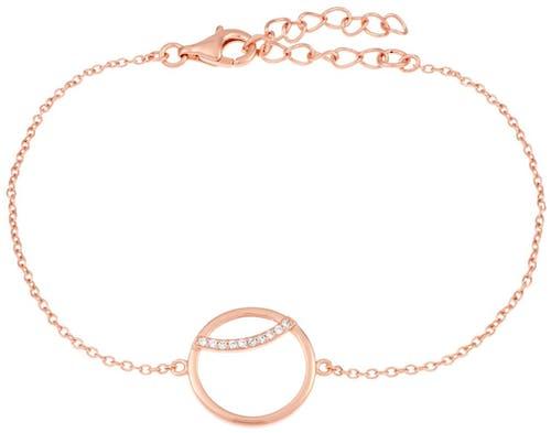 Ce Bracelet ARBELO est en Argent 925/1000 Rose et Oxyde Blanc