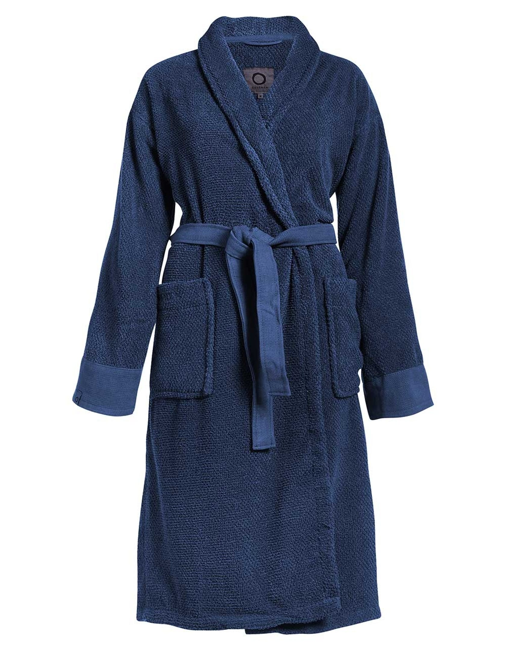 ESSENZA Connect Organic Uni Bathrobe Blue