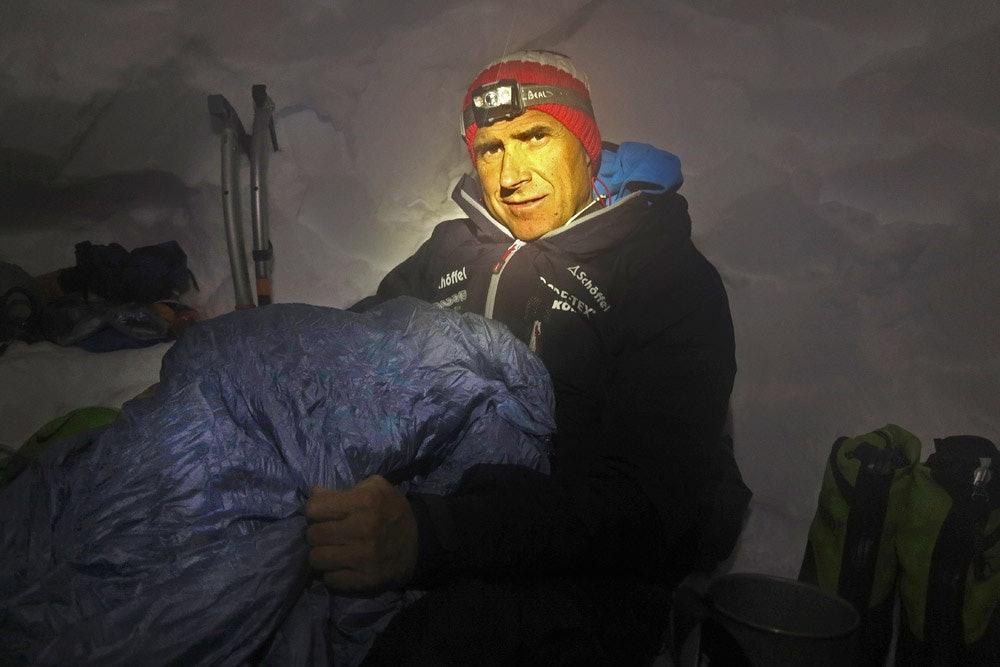 Auch Ralf Dujmovits vertraut auf die Schlafsäcke von Valandre. Foto: Archiv Dujmovits