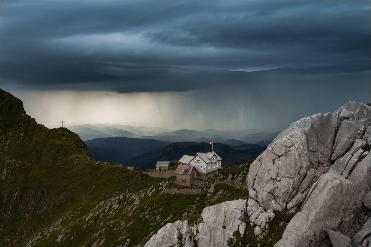 Regnerisches Bergwetter