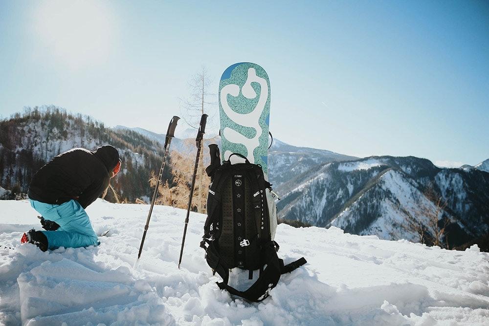 Tourengehen mit dem Snowboard