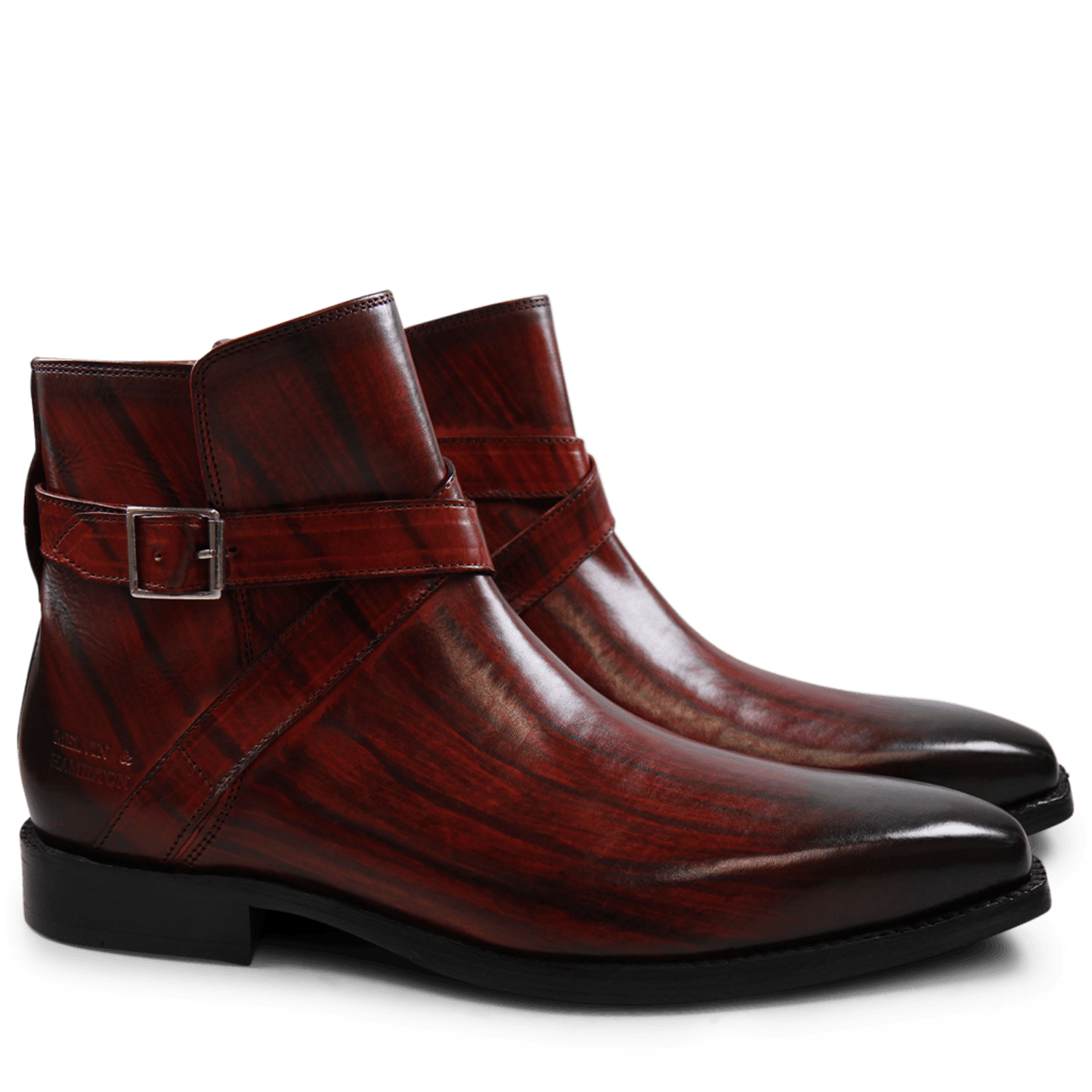 Nicolas 6 Red Shade & Lines Brown HRS