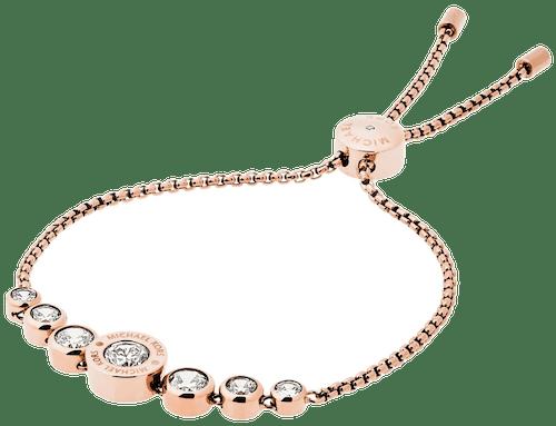 Bracelet MICHAEL KORS en Acier Rose et Pierre Synthétique Blanche