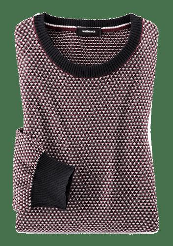 Gepunkteter Pullover in schönem Rotton.