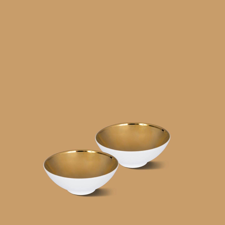 Schälchen-Set, ZEN, glanz-gold