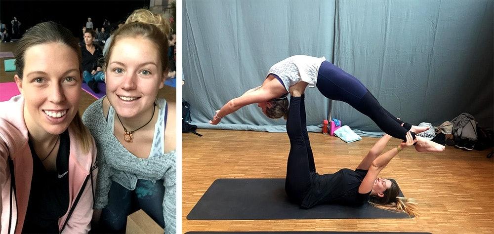 Vroni und Mona berichten vom YEZ Yoga Festival