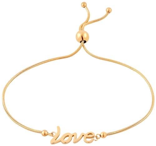 Ce Bracelet ALISON est en Acier Doré
