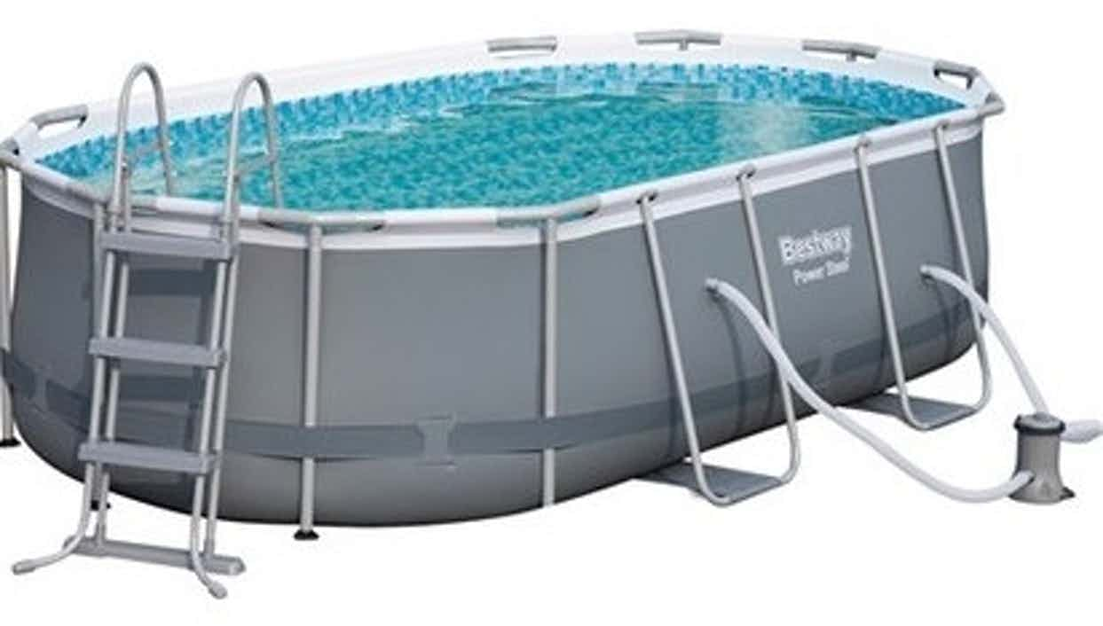Bestway Stahlrahmen-Pool Set 424 cm x 250 cm x 100 cm