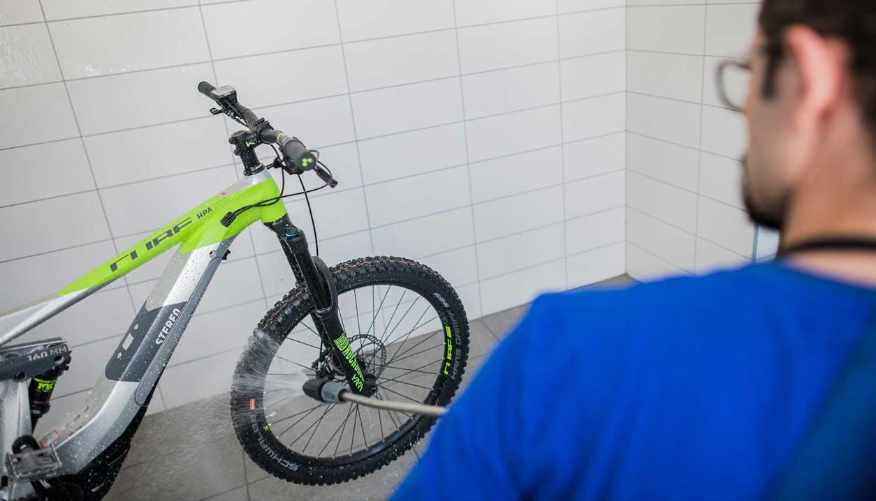 Bike Wash im SPORTLER Servicecenter