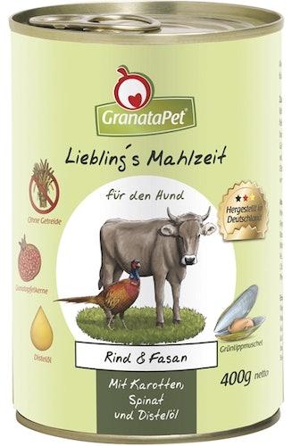 GranataPet - Nassfutter - Liebling's Mahlzeit mit Rind & Fasan (getreidefrei)