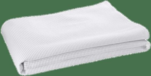 """Wohndecke """"Waffelpique"""" in Weiß"""