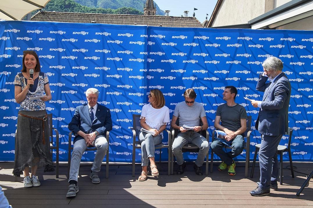 Sportler Klettern Kletterseil Transart Pressekonferenz