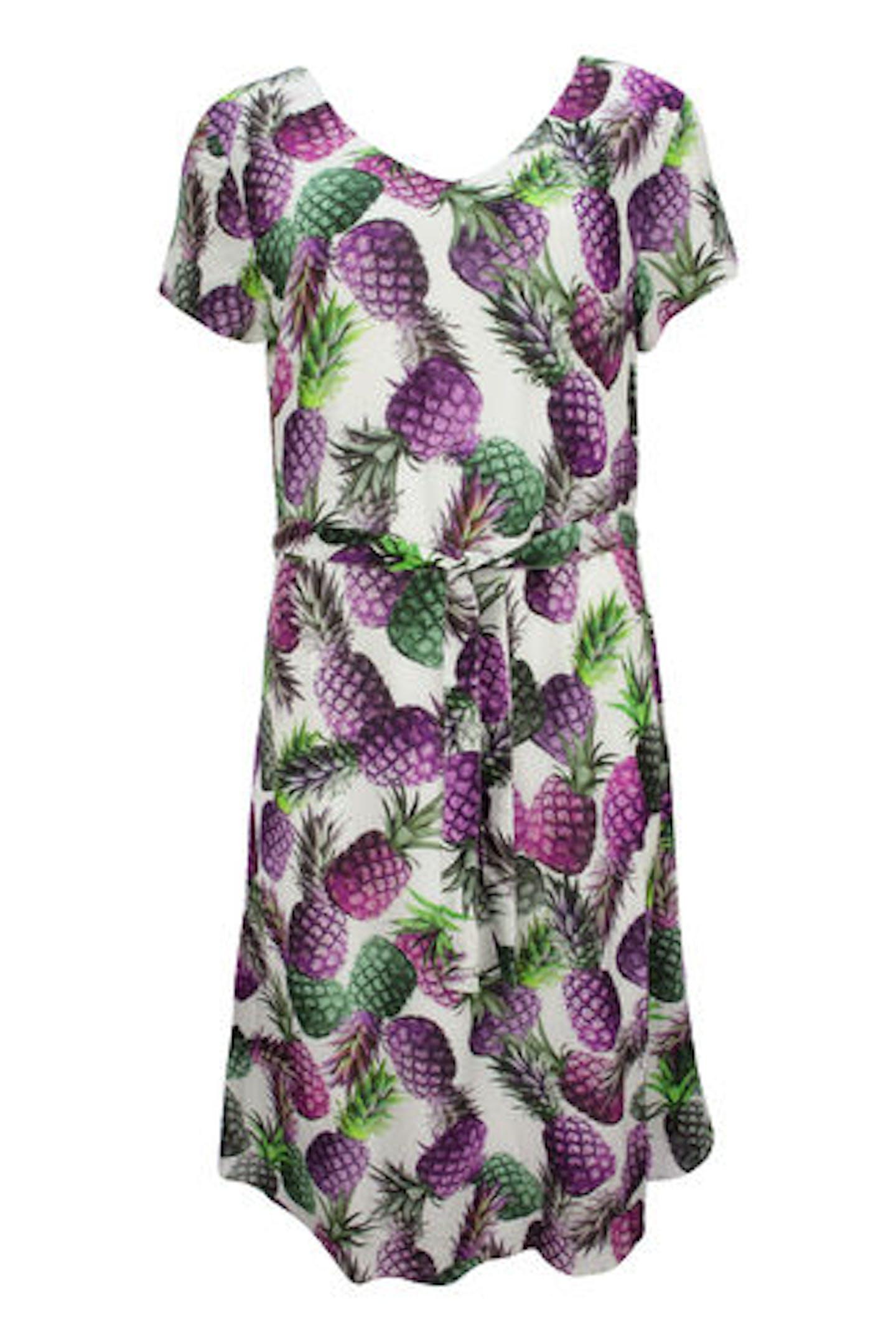 Kleid mit Ananasprint