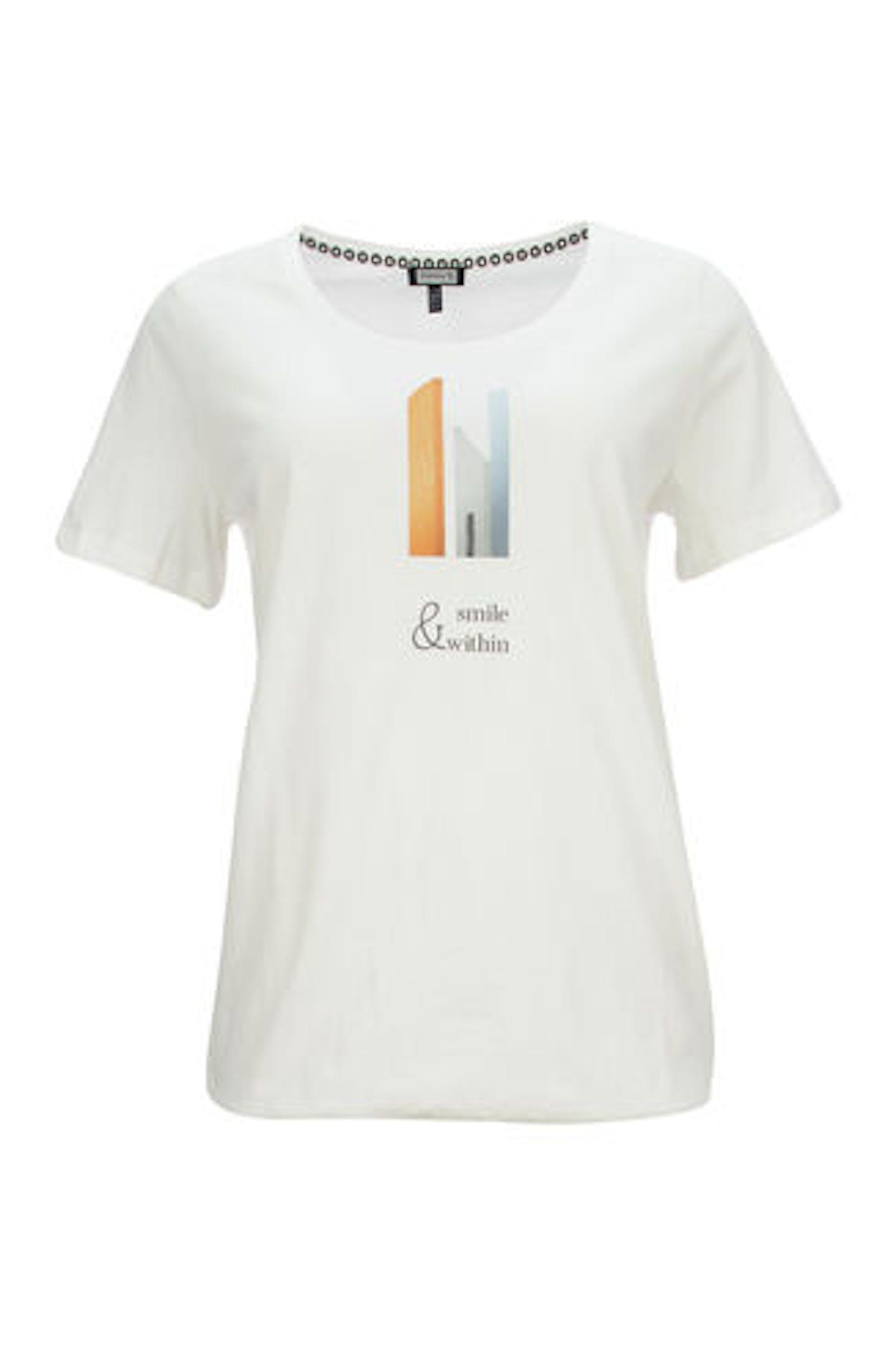 T-Shirt mit kleinem Motiv