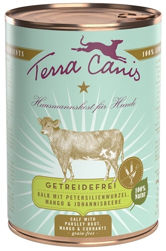Terra Canis - Nassfutter - Getreidefrei Kalb mit Petersilienwurzel, Mango & Johannisbeere