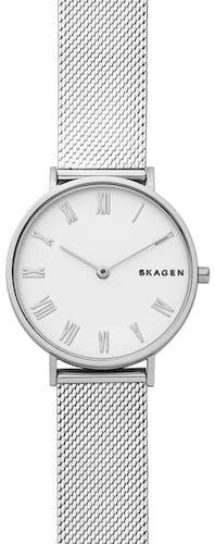 Cette montre SKAGEN se compose d'un Boîtier Rond de 34 mm et d'un bracelet en Acier Gris Acier Gris