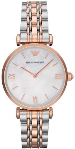 Cette montre EMPORIO ARMANI se compose d'un Boîtier Rond de 32 mm et d'un bracelet en Acier Rose
