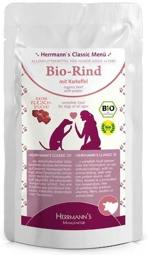 Herrmann's - Nassfutter - Bio-Rind mit Kartoffeln (getreidefrei)