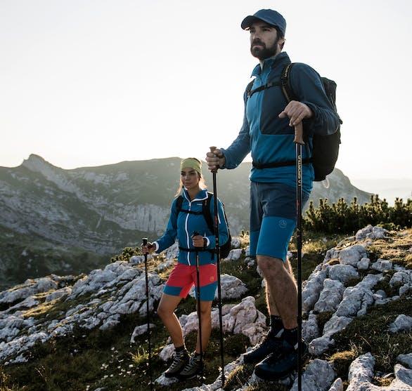 Bekleidung und Schuhe zum Trekking und Wandern