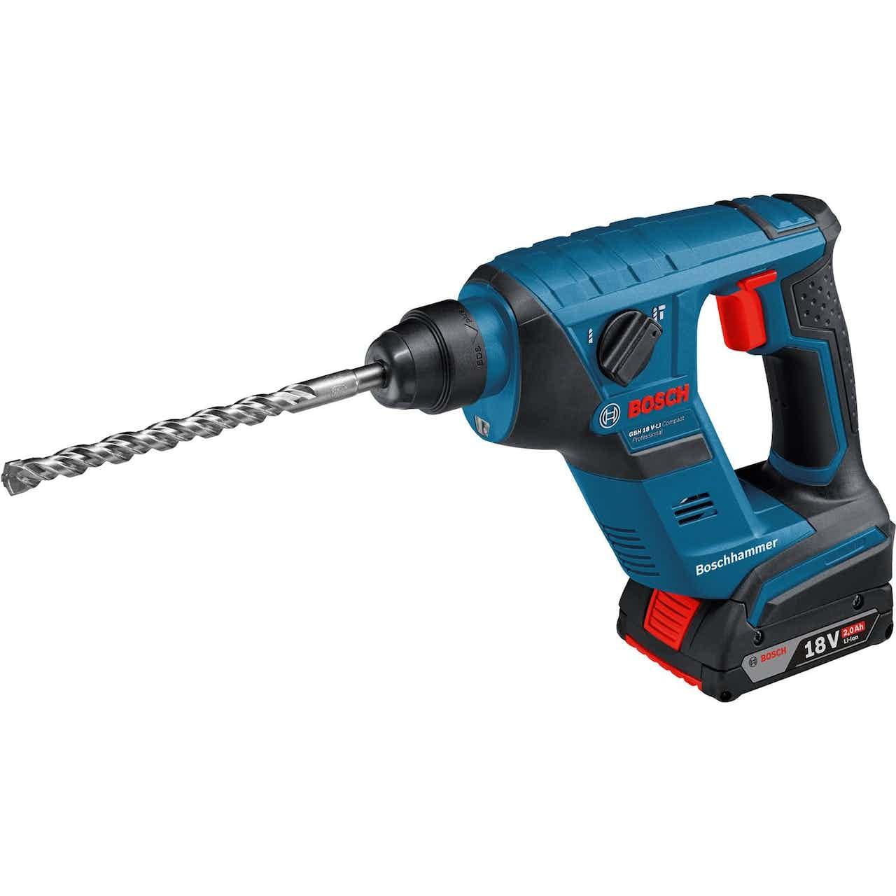 Bosch Professional Akku-Bohrhammer GBH 18 V-LI Compact