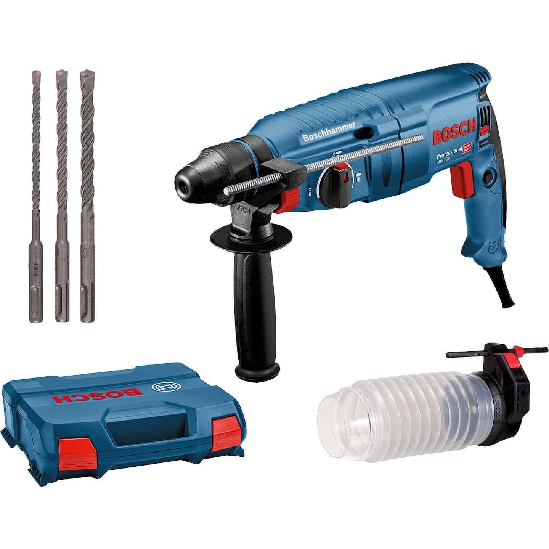 Bosch Professional Bohrhammer GBH 2-25 mit SDS-Plus 790 W inkl. Staubsammler