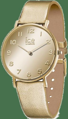 Cette montre ICE-WATCH se compose d'un boîtier Rond de 36 mm et d'un bracelet en Cuir Jaune