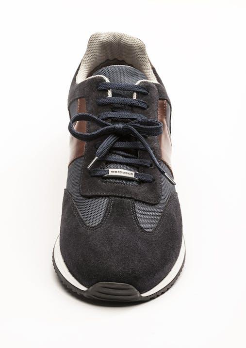 Schwarzer Sneaker mit Mittelschleife