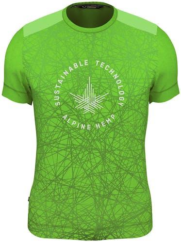 Salewa Alpine Hemp Print M S/S - T-shirt - uomo
