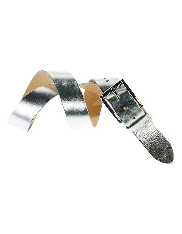 Gürtel mit Metallic-Glanz