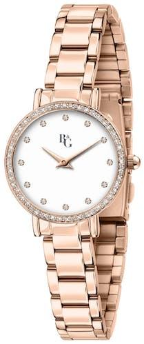 Cette Montre pour Femme B&G PREPPY se compose d'un Boîtier Rond de 28 mm et d'un Bracelet en Métal Rose