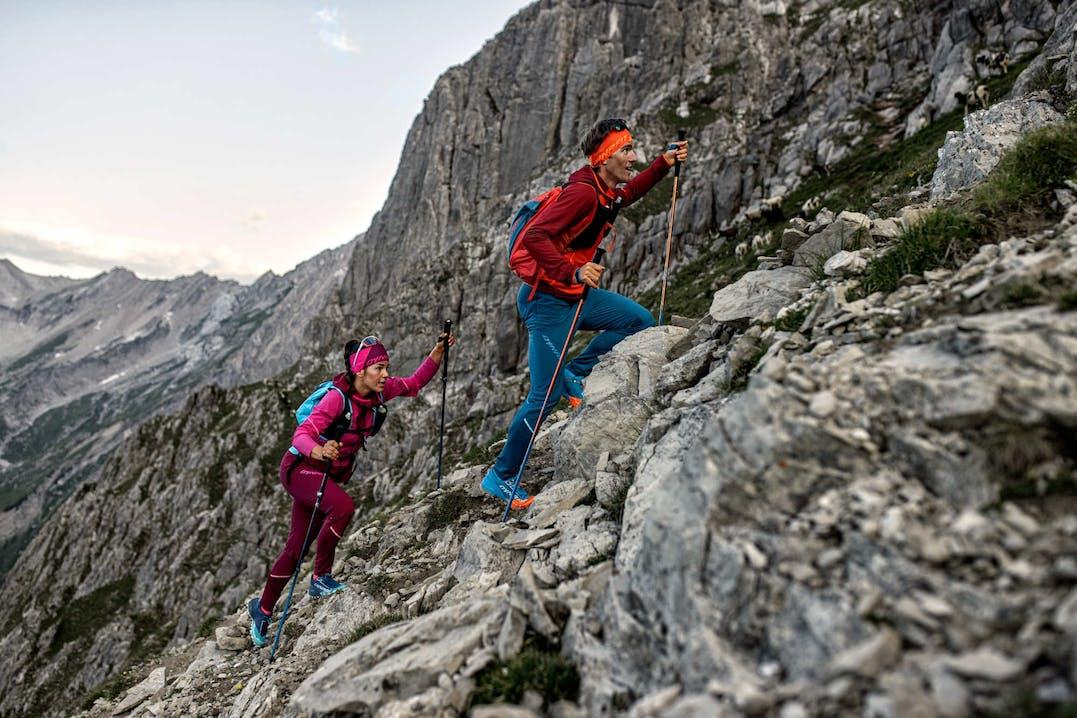 Atleti Dynafit praticano il trail running in montagna