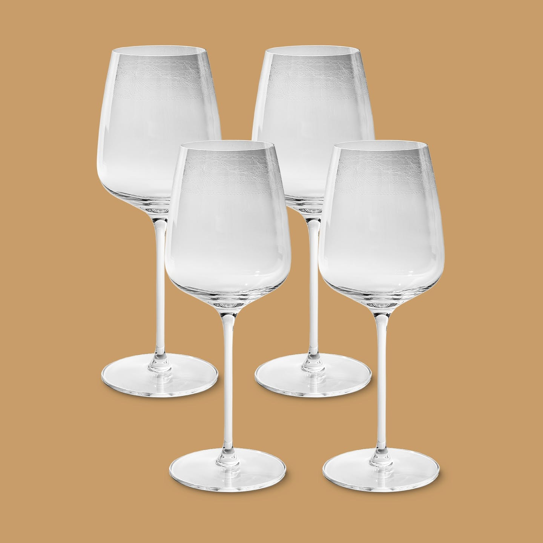 Rotweinglas-Set, KURLAND, 4-teilig