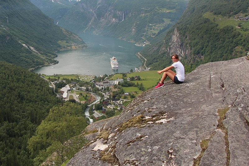 Der Blick vom Dalsnibba auf den Geirangerfjord.
