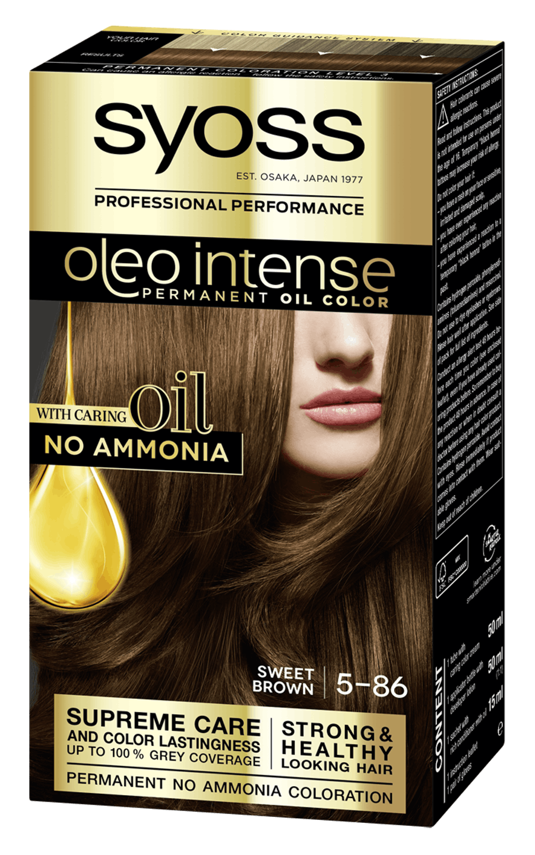 Боя за коса Syoss Oleo Intense Сладко кафяв 5-86 pack shot